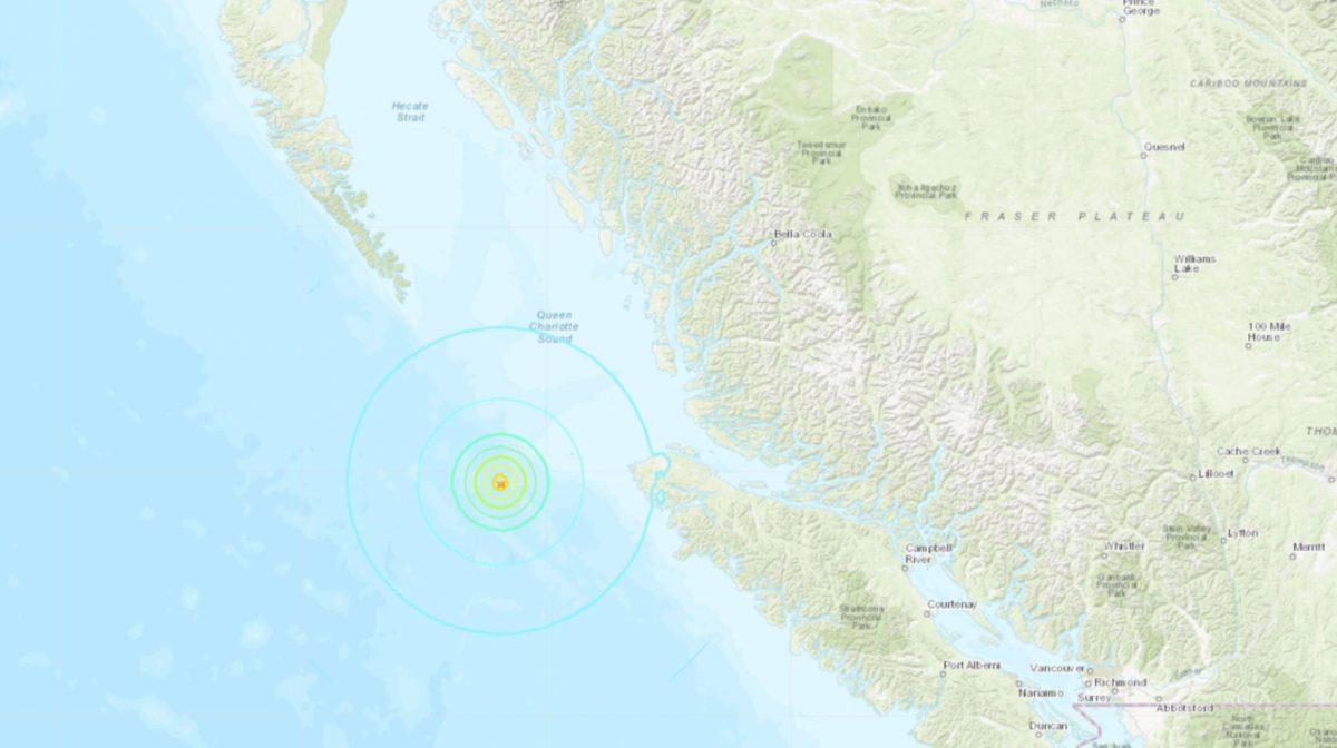Tercer sismo en tres horas: Un terremoto de magnitud 6,0 sacude la costa occidental de Canadá