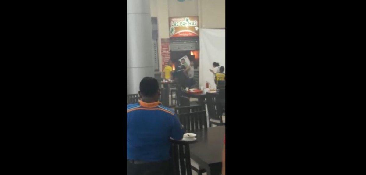VIDEO: incendio y explosión se registró en el Terminal Terrestre de Manta