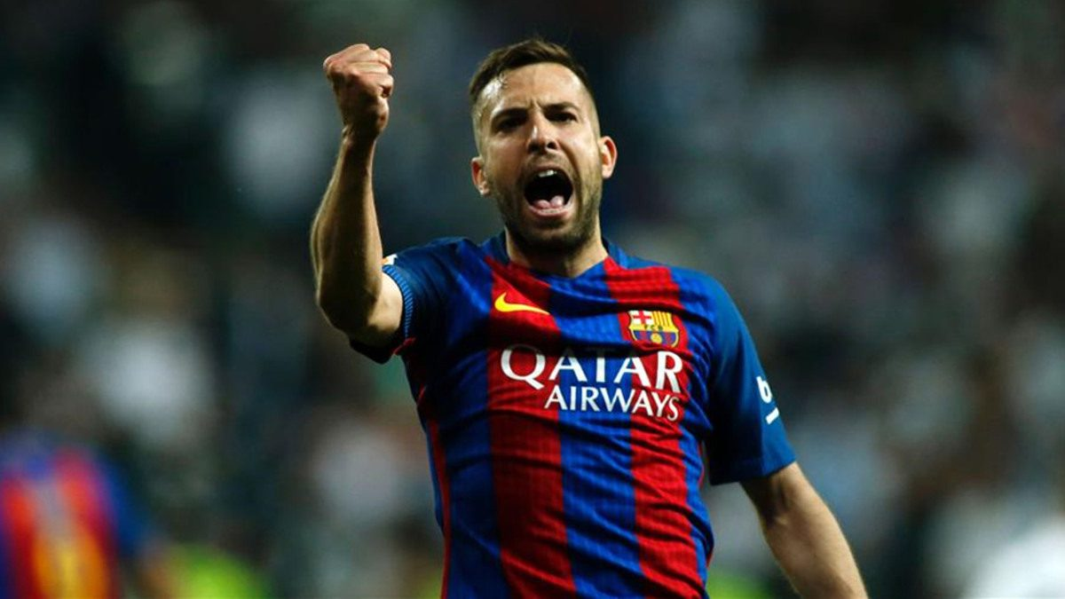 Barcelona renovó con el lateral Jordi Alba hasta el 2024