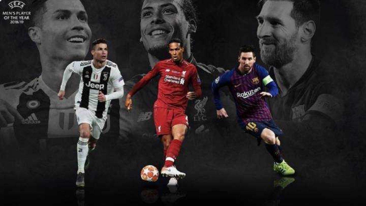 Messi, Cristiano y Van Dijk, nominados a Mejor Jugador UEFA del año 2019