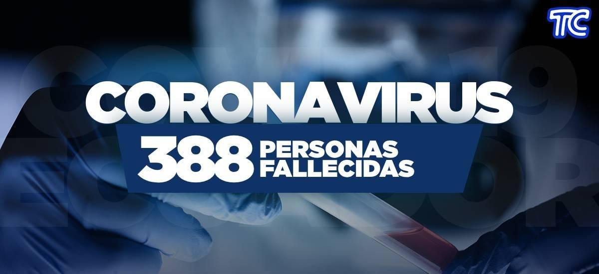 ¡ÚLTIMA HORA!   Se reportan 388 fallecidos por coronavirus en Ecuador