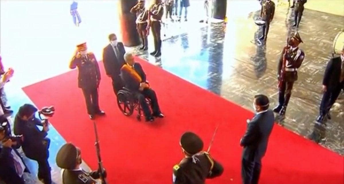 VIDEO: Ingreso del presidente Lenín Moreno a la Asamblea Nacional para presentar su Informe a la Nación