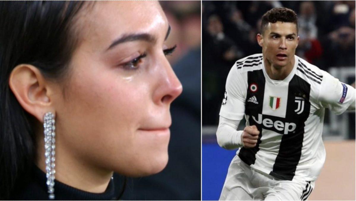 Novia de Cristiano Ronaldo llora mientras anota su 'hat-trick'