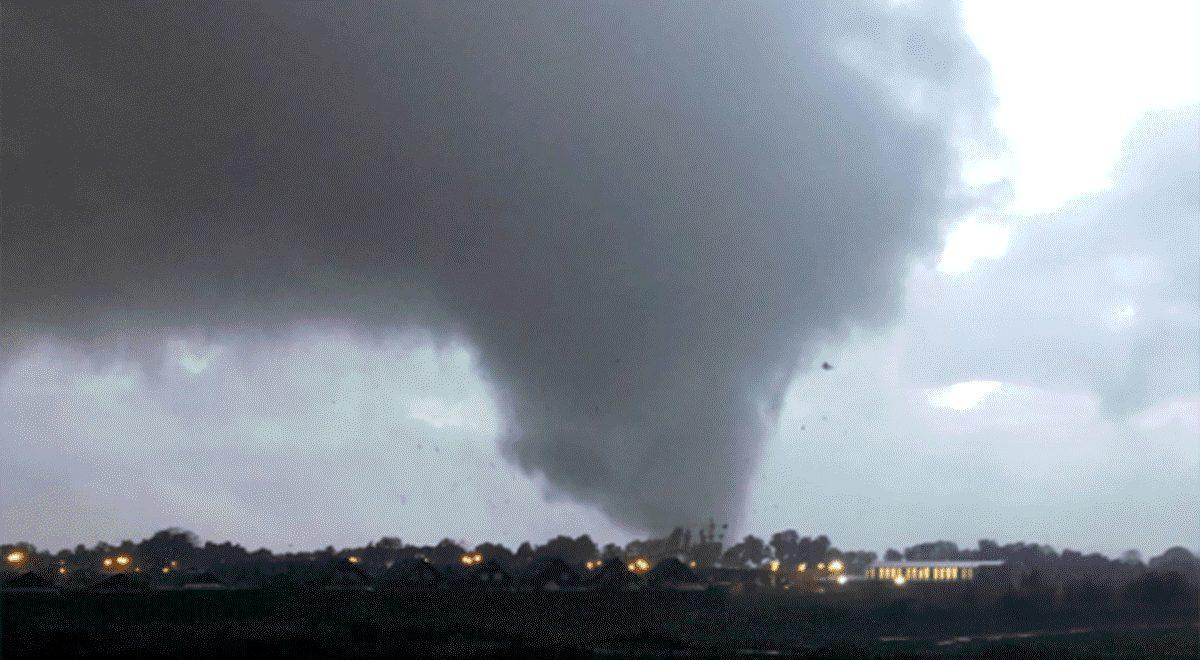 Inusual tornado causa estragos en el sur de Chile
