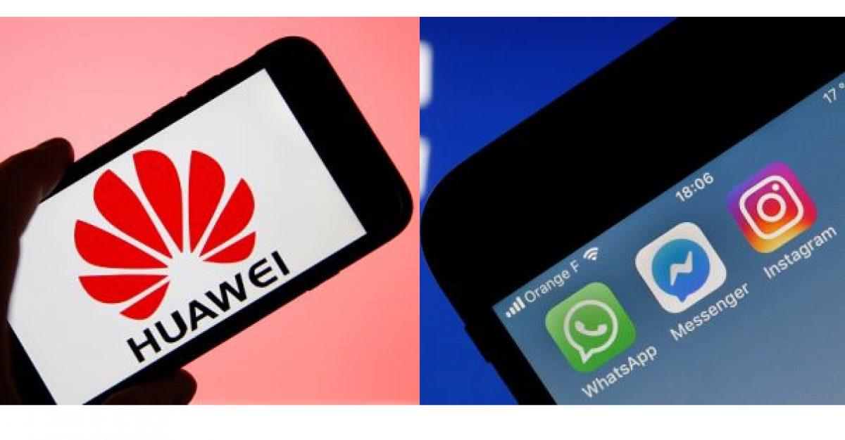 Nuevos celulares Huawei no tendrán preinstaladas Facebook, Instagram ni WhatsApp