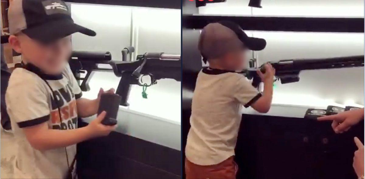 VIDEO | Menor de cuatro años presume feliz cómo cargar un rifle en Estados Unidos