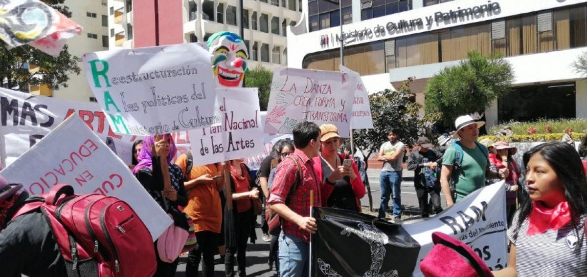 La marcha de los artistas tuvo presencia nacional
