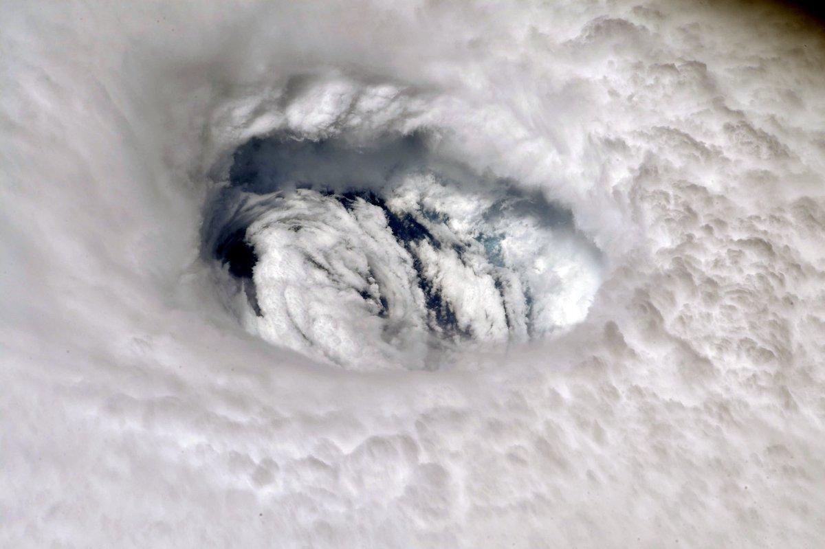 Astronauta de la NASA capta en una foto el poder del huracán Dorian desde el espacio