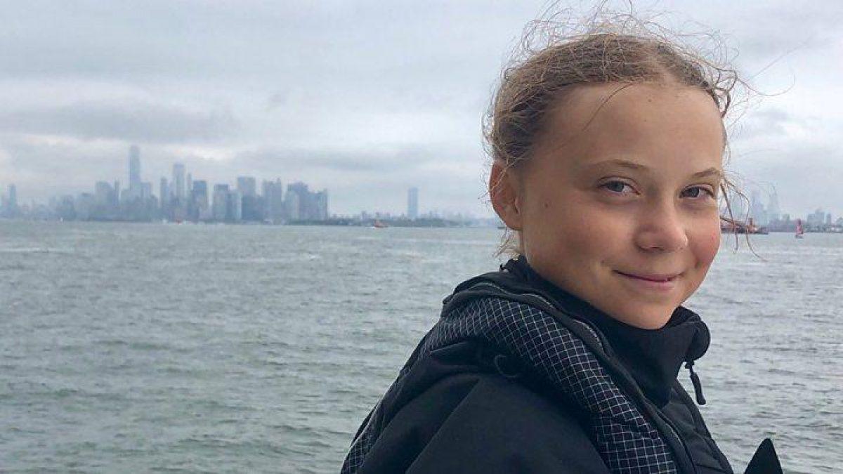 Tras dos semanas de viaje, la activista Greta Thunberg llega a Nueva York