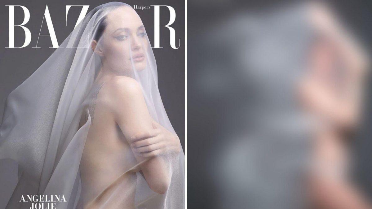 Angelina Jolie posó desnuda para una revista y aseguro estar atrapada en EE.UU.