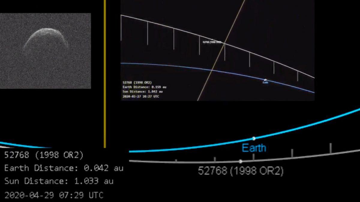 VIDEO: Así es el gigantesco asteroide con forma de máscara que fue captado cerca a la Tierra