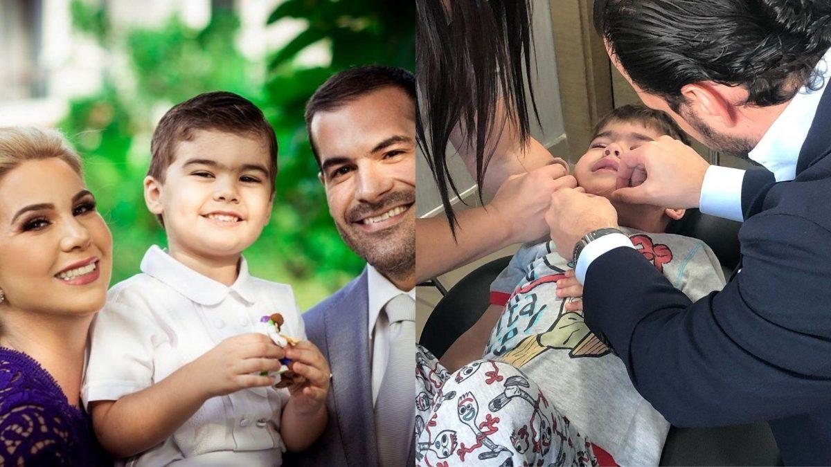 Esposo de Carolina Jaume publicó una foto de cómo luce su hijo tras caerse de las escaleras