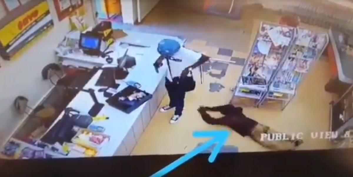 VIDEO | Entra a la tienda a comprar y termina robándole al ladrón