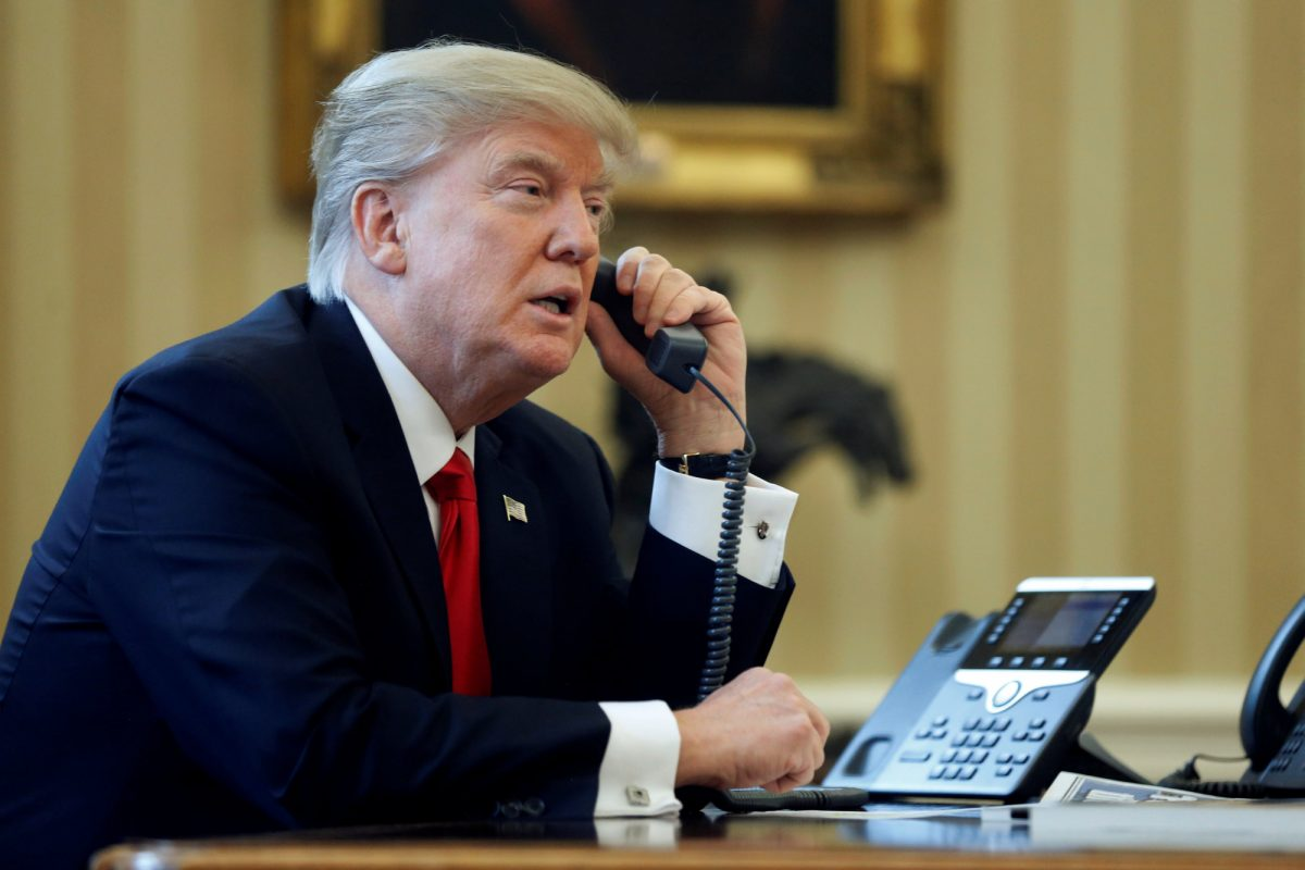 Donald Trump llamó por teléfono a Juan Guaidó para ofrecerle su apoyo