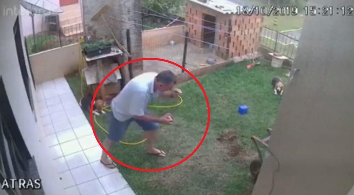 VIDEO | Provoca una explosión en todo su patio al tratar de deshacerse de las cucarachas