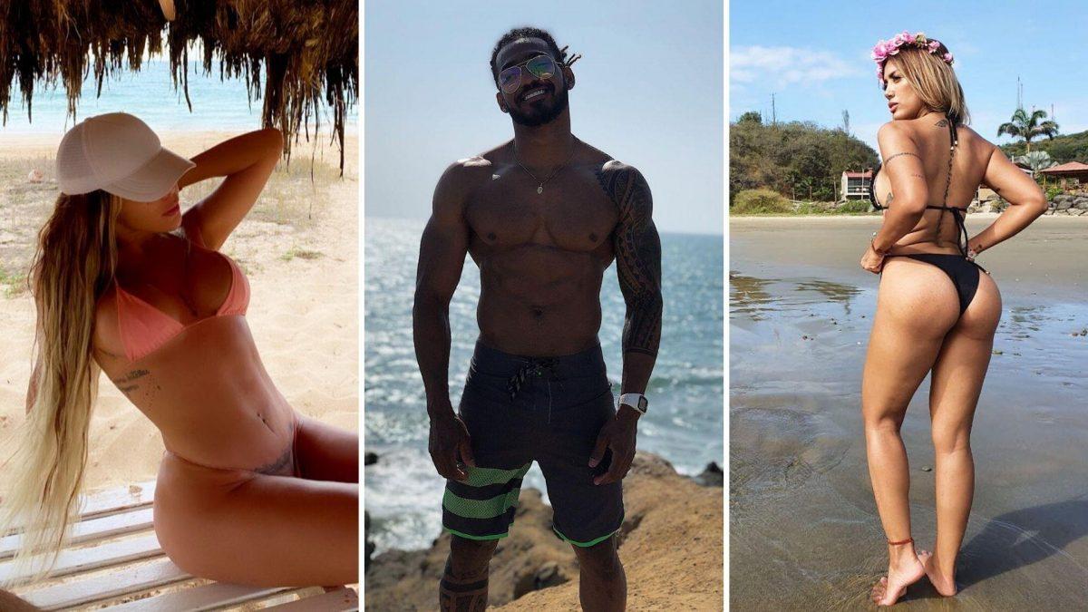 FOTOS   Mira cómo disfrutaron de la playa algunos personajes del medio este fin de semana