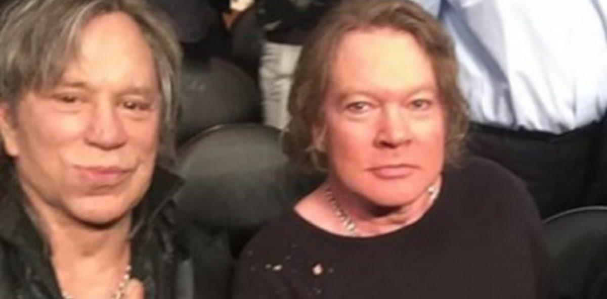 Axl Rose y Mickey Rourke se fotografiaron juntos y desataron una lluvia de memes