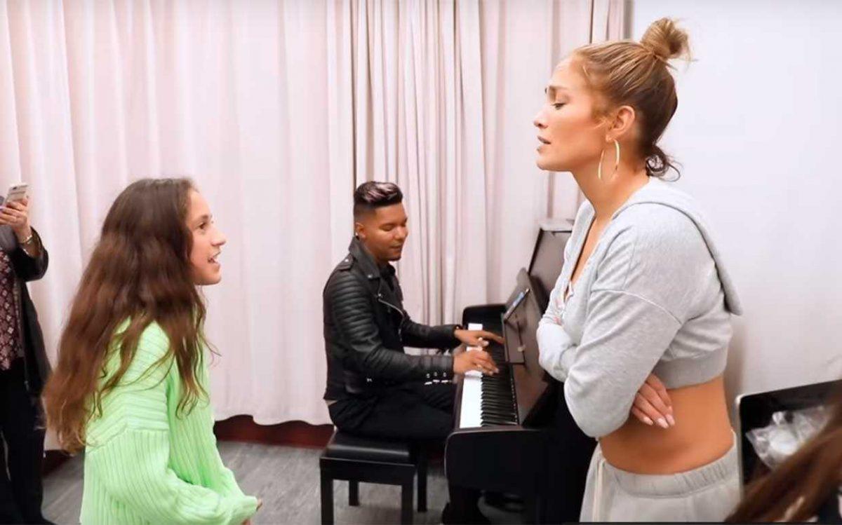 VIDEO: sorprendente voz de la hija de Jennifer Lopez y Marc Anthony