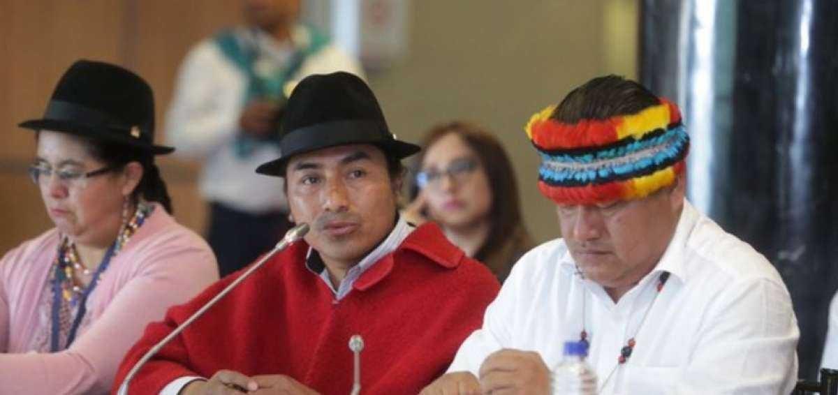 Jaime Vargas y Leonidas Iza rindieron su versión por las protestas de octubre