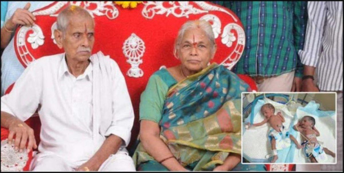 VIDEO   Una mujer de 73 años dio a luz a gemelas sanas en la India