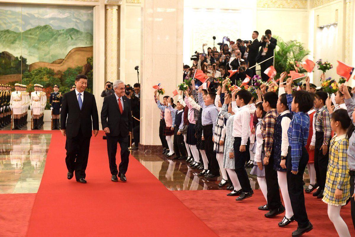 Presidente chileno comienza su visita en China