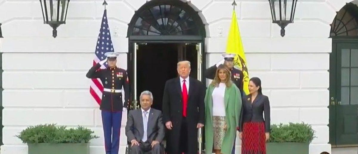 VIDEO | Así fue la llegada histórica del presidente Lenín Moreno a La Casa Blanca