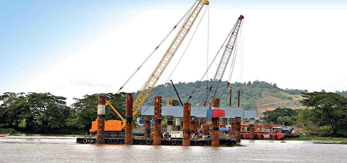 Se registra el 15% de avance en el puente Daule- Guayaquil