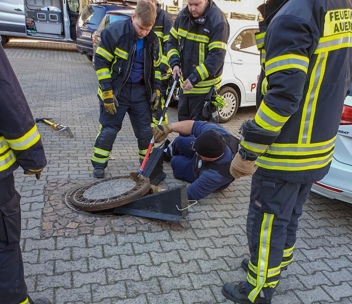 VIDEO: bomberos rescatan una rata gorda atrapada en una alcantarilla