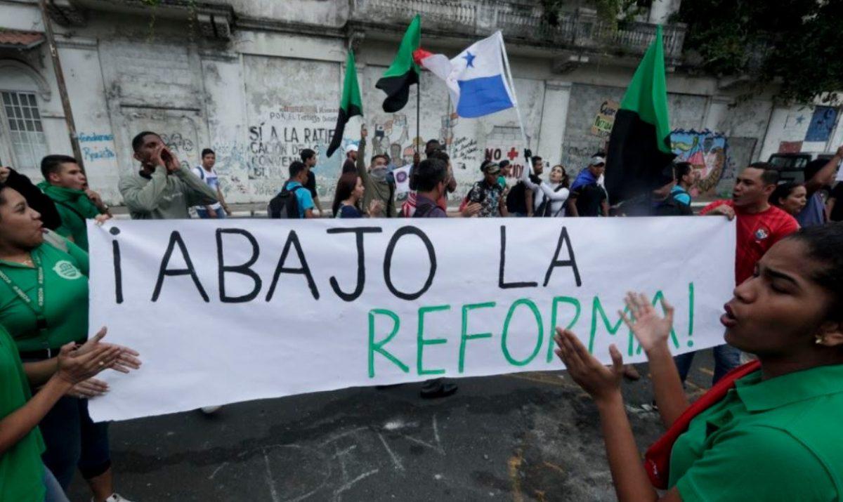 Cientos de detenidos en Panamá en protestas contra la reforma constitucional