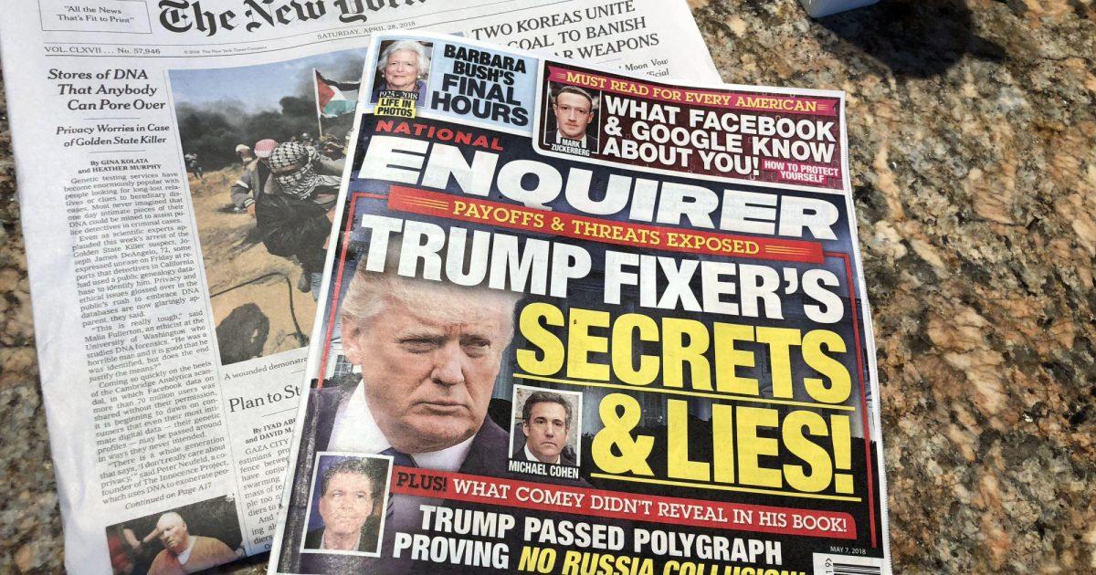 Una famosa revista de celebridades admite que pagó a dos mujeres para ayudar a Trump en 2016