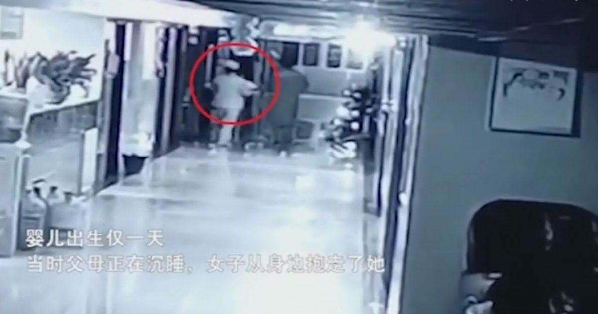 VIDEO | Se disfrazó de enfermera y robó a una niña recién nacida de un hospital