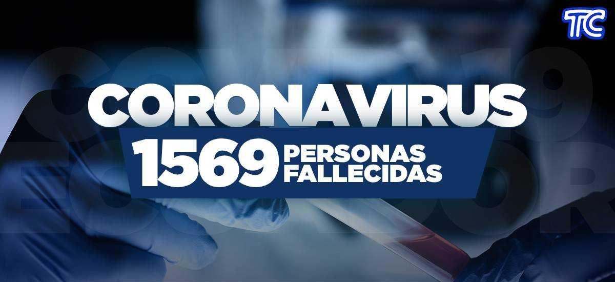 ¡ÚLTIMA HORA! | Se registran 1569  fallecidos por coronavirus en Ecuador