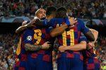 Barcelona gana 2x1 al Inter con doblete de Luis Suárez
