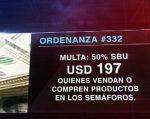 En Quito sancionarán a quienes compren o vendan en semáforos