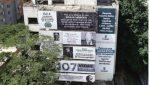 Antiguo edificio Mónaco de Pablo Escobar fue empapelado en homenaje a las 46.612 víctimas del Cártel de Medellín