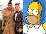 Nick Jonas y Priyanka Chopra se convierten en Los Simpsons
