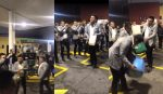 VIDEO | Banda musical sorprende en plena gasolinera