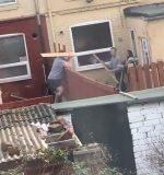 VIDEO: vecinos se pelean con tablas de madera