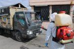 Ministerio de Obras Públicas verificó la desinfección en transporte de carga pesada y buses en Riobamba