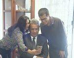 Presidente visitó a joven con discapacidad