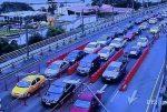 VIDEO   Cámaras de seguridad captan tráfico vehicular en Guayaquil