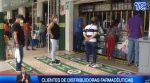 VIDEO: Clientes de distribuidoras farmaceúticas no cumplen distanciamiento