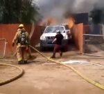 VIDEO: ingresó a su hogar en llamas para salvar a su perro