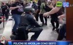 VIDEO| Policías se arrodillan como gesto de solidaridad por muerte de Floyd