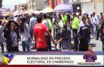 Normalidad proceso electoral en Chimborazo