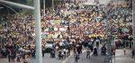 Transportistas marchan en rechazo a las reformas a la Ley de Tránsito.