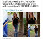 Le toma foto a su hija y se percata de peligro mortal