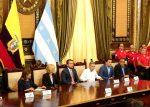 """Alcaldesa de Guayaquil y Ministra del interior firmaron plan """"Más Seguridad"""""""