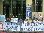 Comerciantes de mercado central realizaron protesta