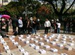 Grupos religiosos realizaron marcha de los ataúdes blancos